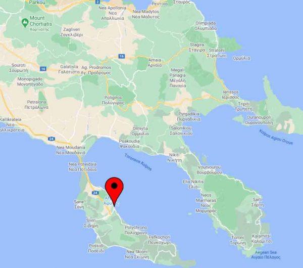 Poseidon Kallithea Map
